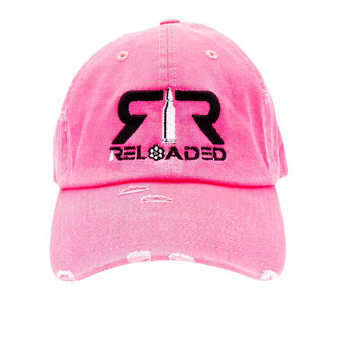 "DAD HAT ""NEON PINK/ BLACK AND WHITE LOGO"""