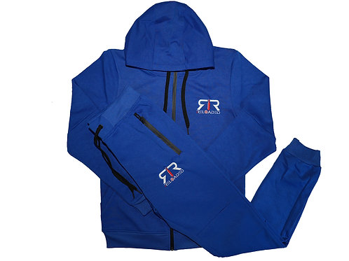"""ROYAL BLUE TECH SUITE """"WHITE AND RED""""LOGO"""