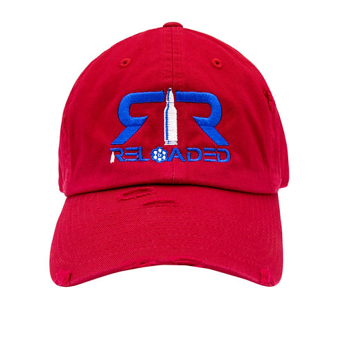 """DAD HAT """"RED / ROYAL AND WHITE LOGO"""""""