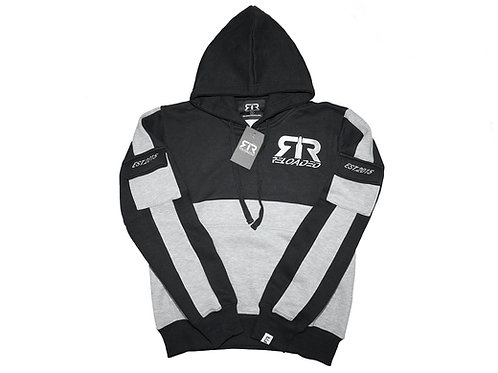 BLACK & GREY RELOADED PULLOVER HOODIE