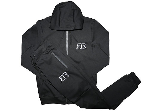 """BLACK TECH SUIT """"GREY AND WHITE LOGO"""""""