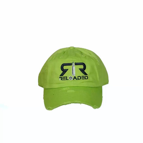 "DAD HAT ""LIME/ BLACK AND WHITE LOGO"""