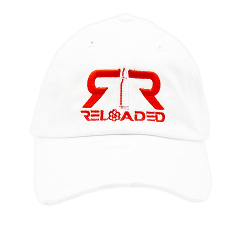 "DAD HAT ""WHITE / RED & WHITE LOGO"""