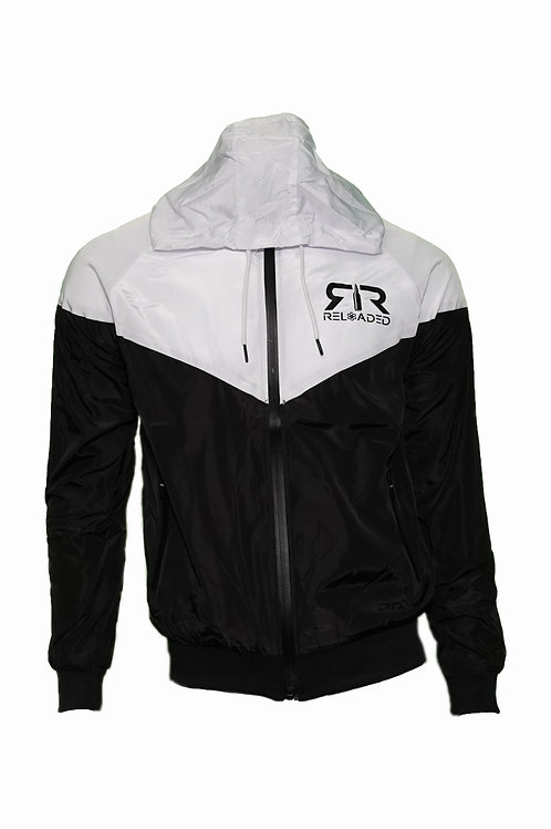WINDBREAKER WHITE AND BLACK