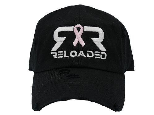 """""""DAD HAT"""" BLACK BREAST CANCER AWARENESS HAT"""