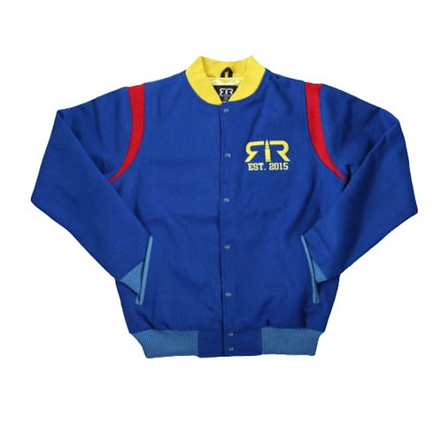ROYAL, RED & YELLOW WOOL RELOADED VARSITY JACKET