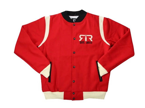 RED, CREAM & BLACK WOOL RELOADED VARSITY JACKET