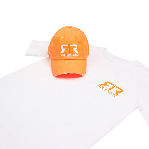 """HAT AND SHIRT COMBO """" ORANGE CREME"""" COLOR WAVE"""