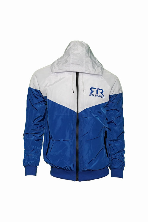 WINDBREAKER ROYAL AND WHITE