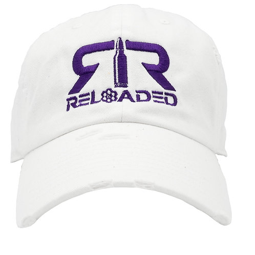 "DAD HAT ""WHITE / PURPLE AND WHITE LOGO"""