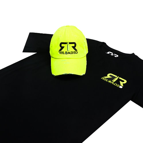 """HAT AND SHIRT COMBO """" NEON """" COLOR WAVE"""