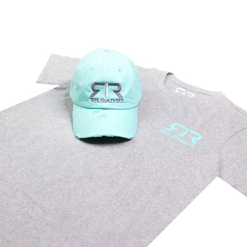 """HAT AND SHIRT COMBO """" PEPPERMINT"""" COLOR WAVE"""