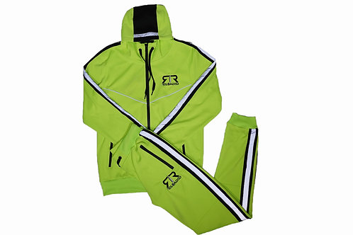 """3M TECH NEON GREEN SET """"EMBROIDERED"""""""