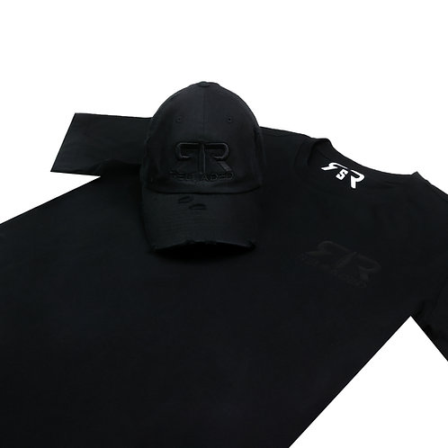 """HAT AND SHIRT COMBO """" BLACK OUT """" COLOR WAVE"""