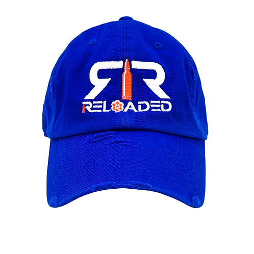 """DAD HAT """"ROYAL / WHITE AND RED LOGO"""""""
