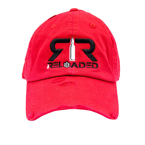 "DAD HAT ""RED / BLACK AND WHITE LOGO"""