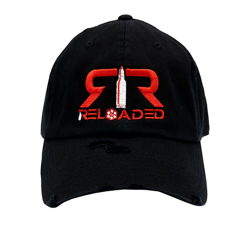 """DAD HAT """"BLACK / RED AND WHITE LOGO"""""""