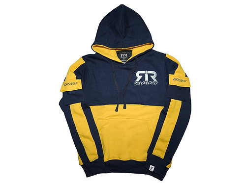NAVY & YELLOW RELOADED PULLOVER HOODIE