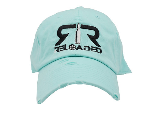 """DAD HAT """" MINT/ BLACK AND WHITE LOGO"""""""