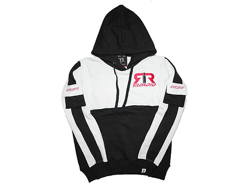 WHITE & BLACK RELOADED PULLOVER HOODIE