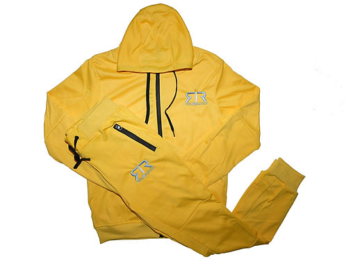 """YELLOW TECH SUIT """"GREY AND WHITE"""" LOGO"""