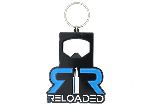 BLACK,BLUE & WHITE BOTTLE OPENER KEYCHAIN