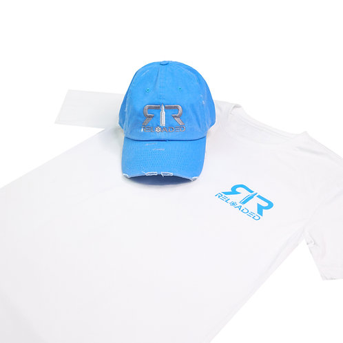 """HAT AND SHIRT COMBO """" BARRY SANDERS """" COLOR WAVE"""