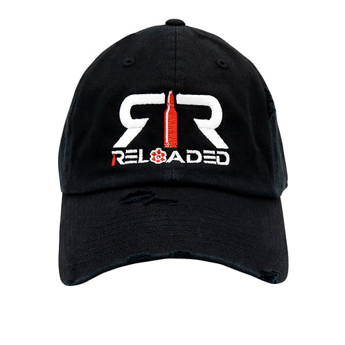 "DAD HAT ""BLACK / WHITE AND RED LOGO"""