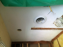 Before Shot of Textured Ceiling