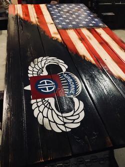 Custom 82nd Airborne Blended Flag