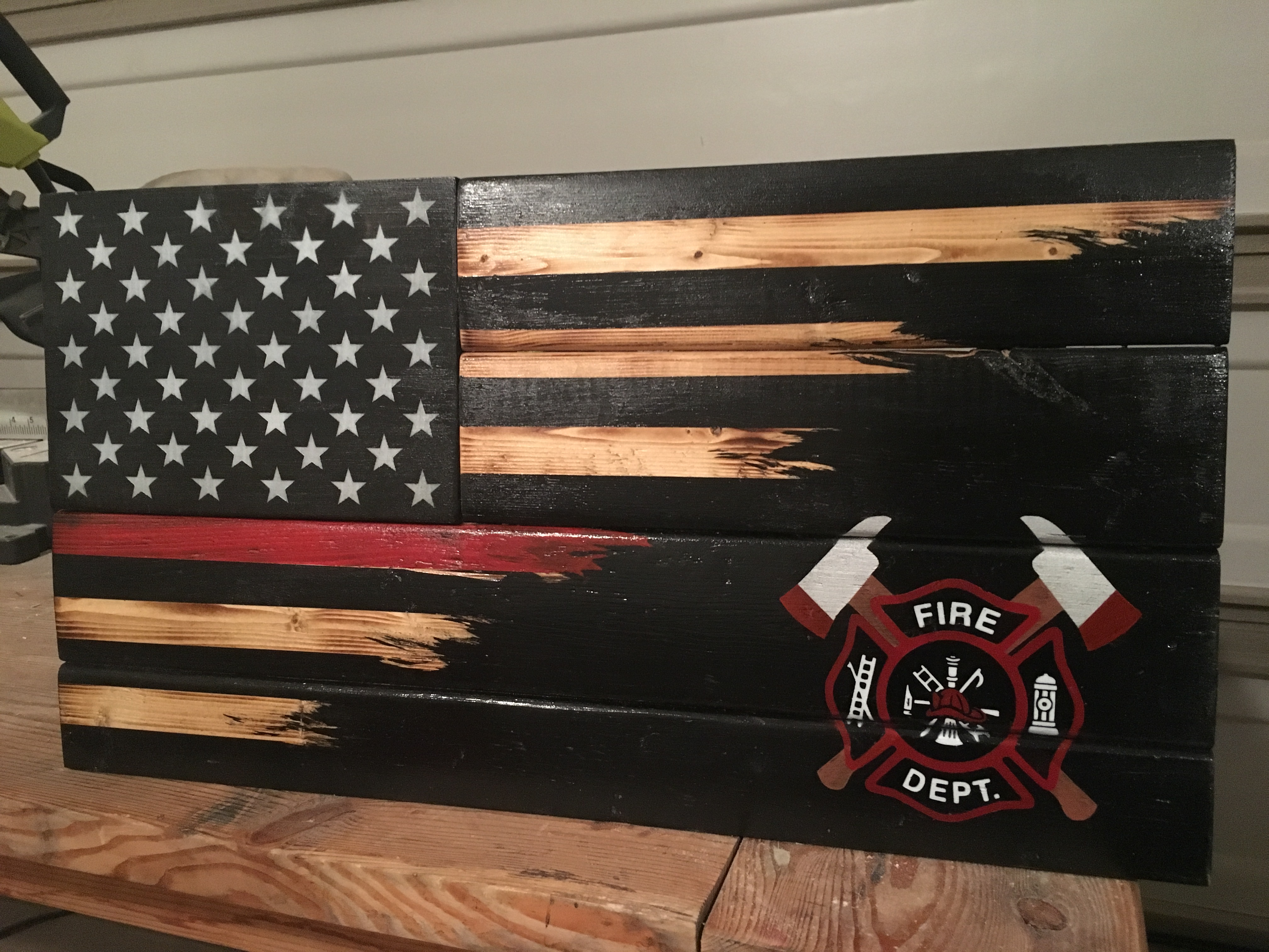 Custom Thin Red Line Blended