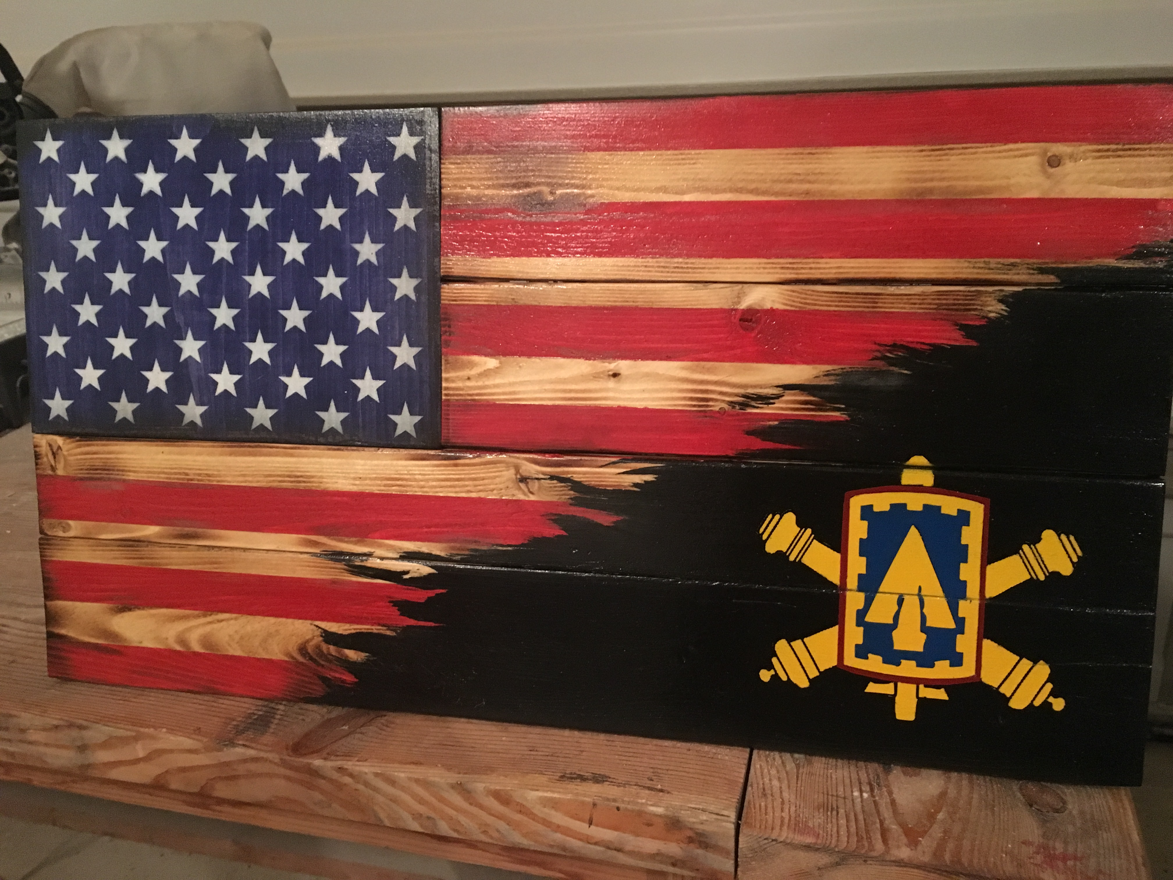 Custom ADA Blended flag