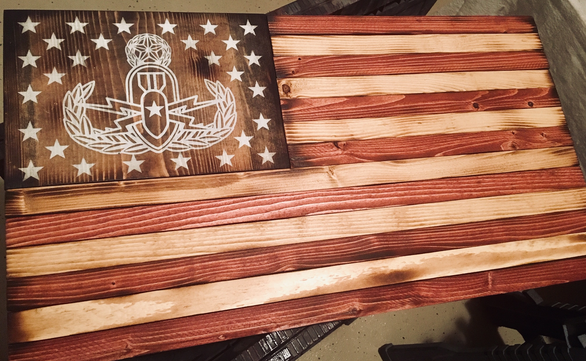 Custom Stain EOD flag