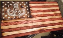 Custom Stain EOD flag