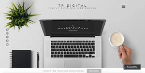 TP digital website homepage now has an accessibility widget