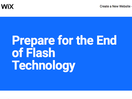 Get  your old Flash website redesigned before Flash websites are deleted on 31st December 2020.