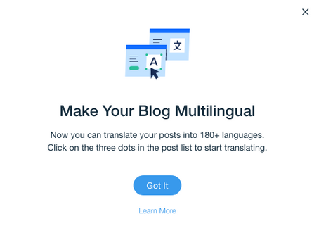 Wix News: Wix Blog now supports multi languages!