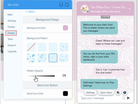 Wix Tips: How to customise your chatbox to fit your business branding