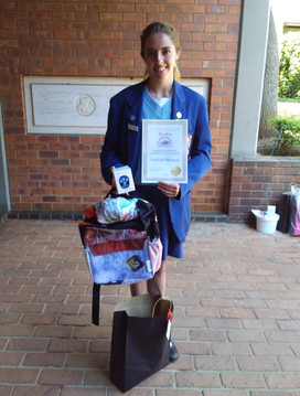 Third place winner and Gr 10 pupil Kayleigh Manasse of Saheti School was awarded for her drawing of Lifestyle College.