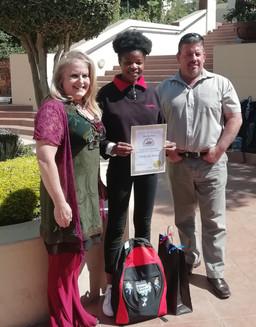 Crawford College teacher Suzette da Serra, learner Thokozile Mnisi and Shaun Murphy.