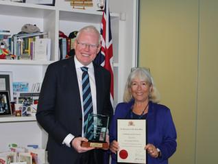 Award for our Secretary