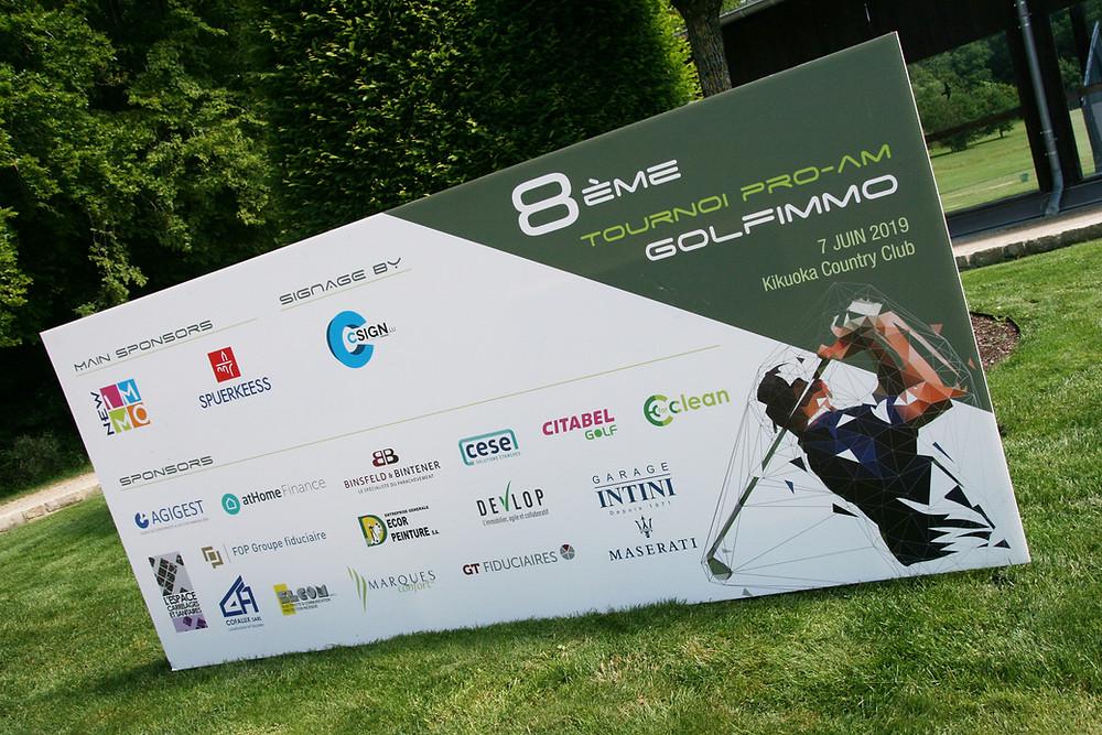 Panneau Golfimmo sponsors