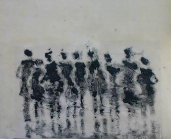 No. 334 – Tous vers le même horizon2017Encaustique et cendres humaines