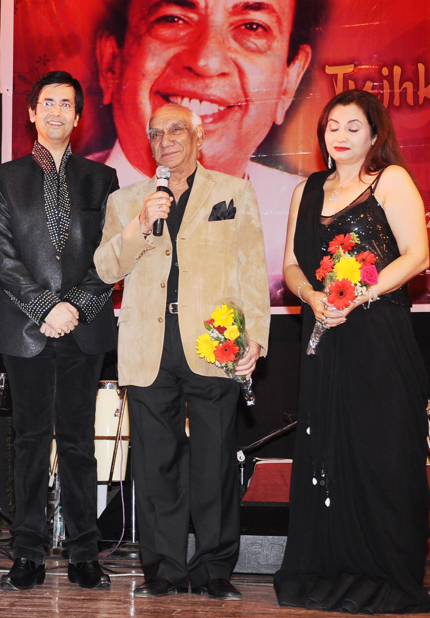 With Yash Chopra ji & Salma Agha ji