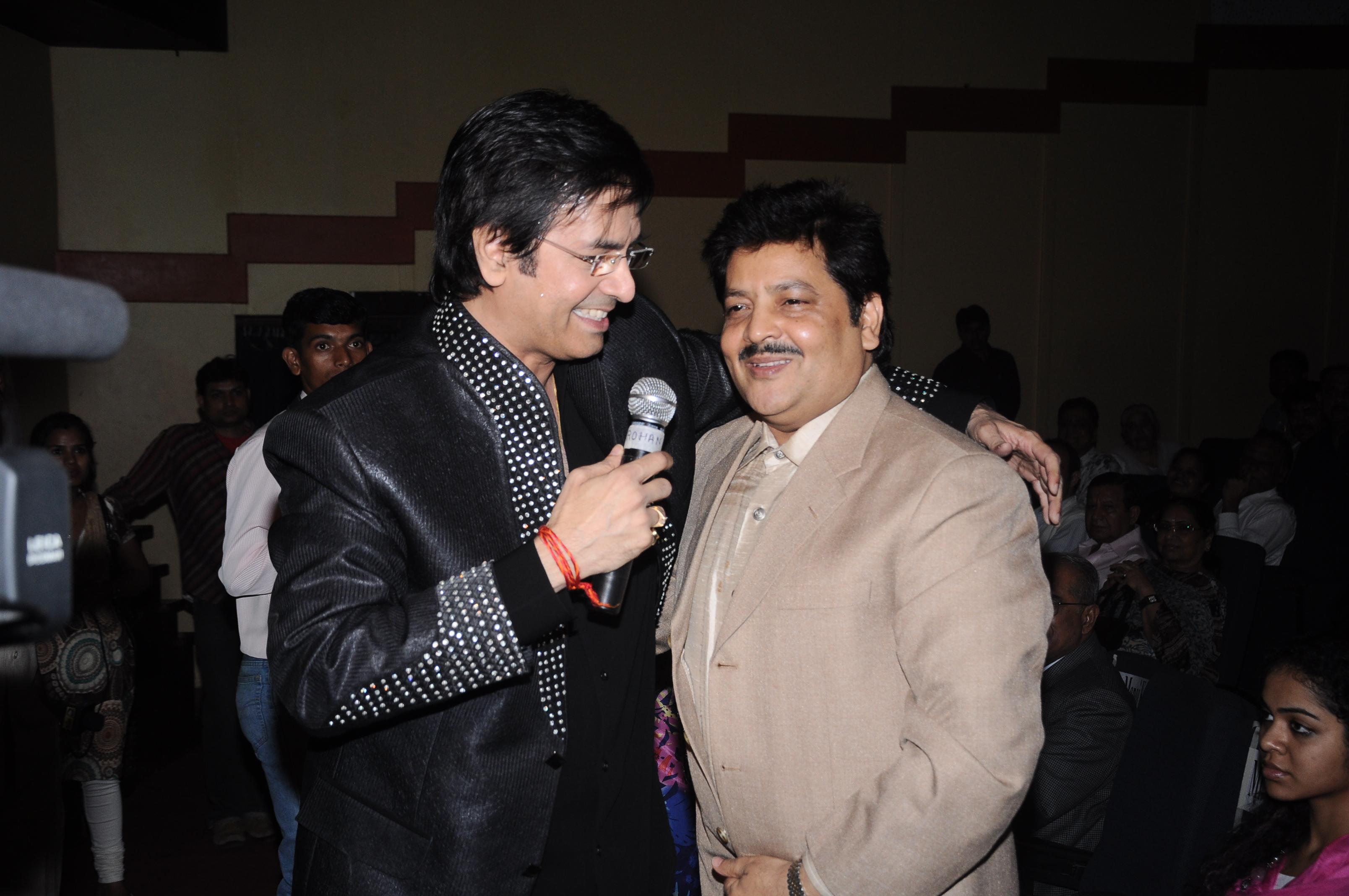 With Udit Narayan ji