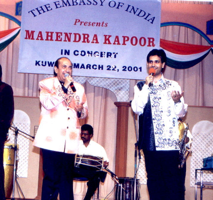 Ruhan performs in Kuwait with father