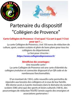 Partenaire Carte Collégien de Provence