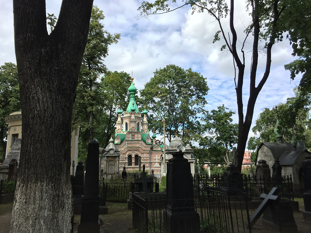 This monastery and graveyard in Russia, called Donskoy, has its roots in the late 16th century