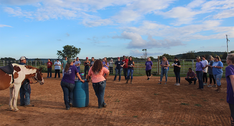 Volunteer orientation at Courage Therapeutic Riding Center.