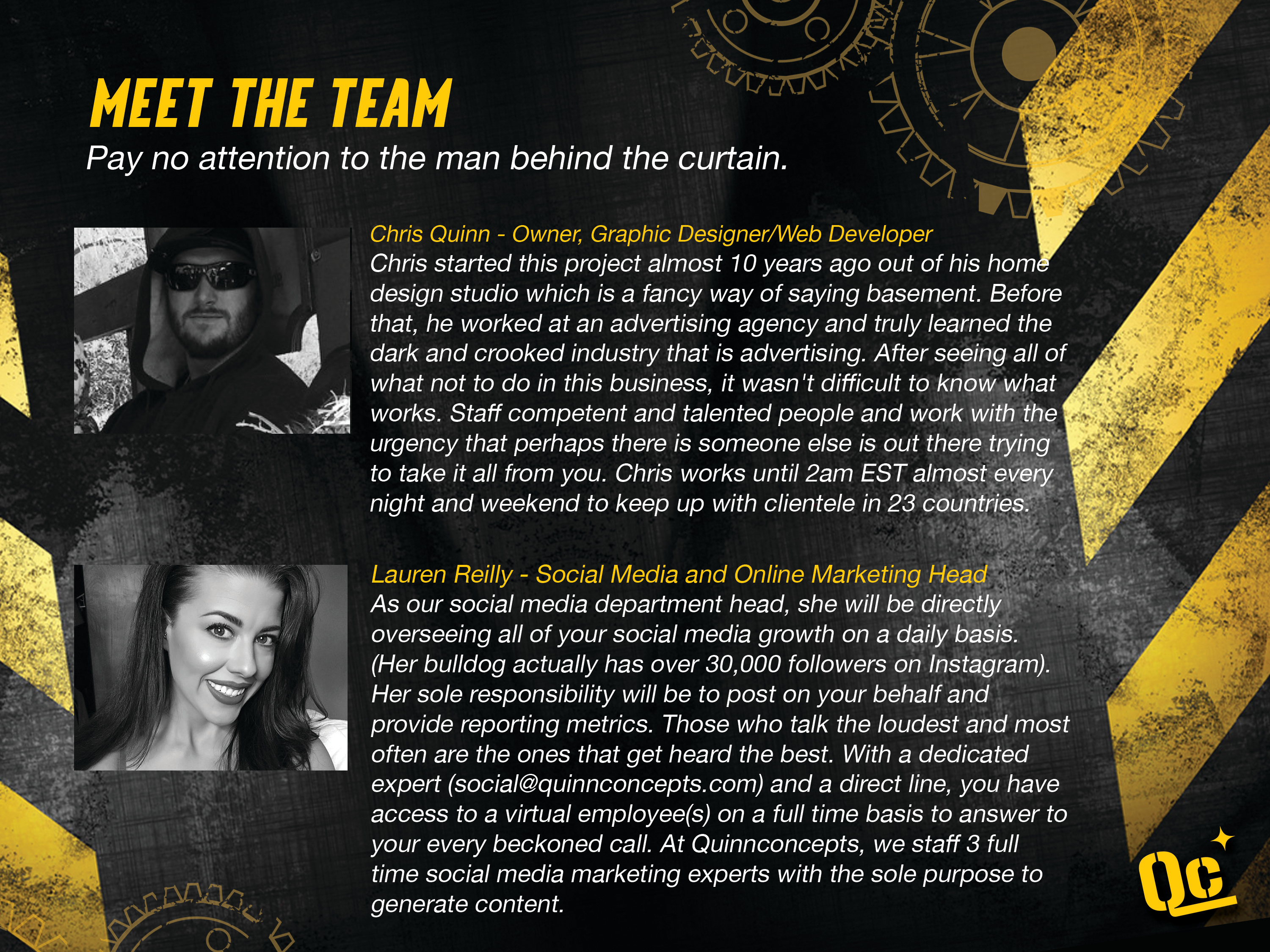 slide 6 - Meet the Team